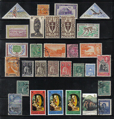 30 Older Mint And Used Postage Stamps C Countries