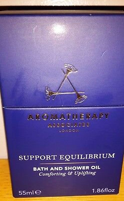 Aromatherapy Associates Support Equilibrium bath & shower oil 55ml - Brand New