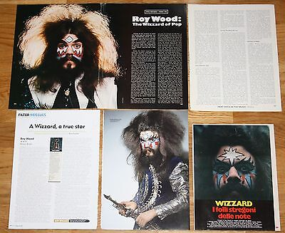 ROY WOOD 1970s/00s clippings photos magazine articles cuttings Wizzard The Move