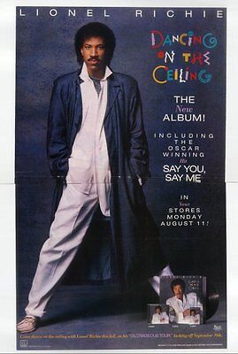 1986 Lionel Richie photo BIG COLOR Say You Say Me song release trade print ad