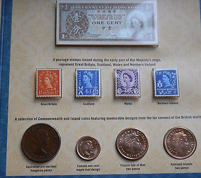 1952 - 2012 Queens Diamond Jubilee Coin Collection ,  Stamps and Commonwealth