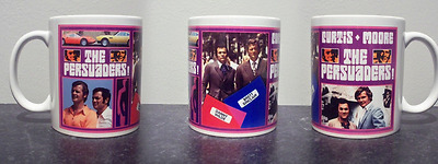 THE PERSUADERS MUG, limited edition RARE roger moore tony curtis