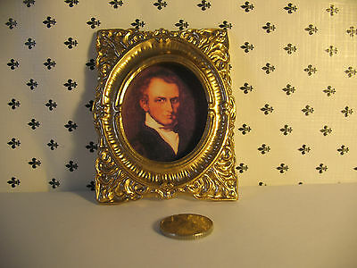 Dolls House  Gentleman  Painting 1/12th  Scale  Framed