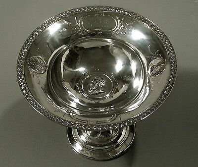Wood Hughes Silver Tazza      Gen Robert E Lee                c1860
