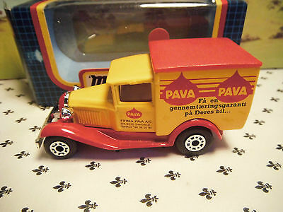 Matchbox Model MB38 Yellow PAVA  Van Red Roof  small  Scale