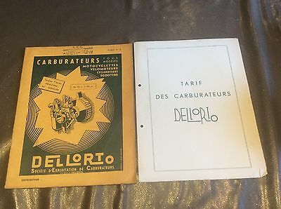 ANCIEN CATALOGUE CARBURATEURS DELLORTO 38cc A 500cc MINE D'OR