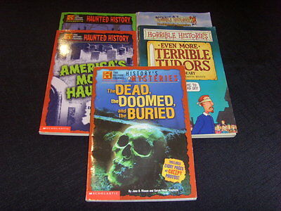 Lot Of 5 - The History Channel & Horrible Histories - Paperback Chapter Books