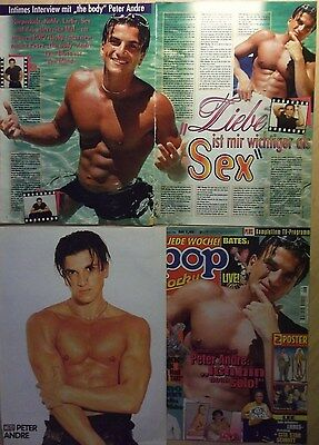 4 german clipping PETER ANDRE SHIRTLESS SINGER BOY ROCK POP BAND BOYS GROUP HUNK