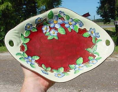 Antique Maling Porcelain Bowl-Hand Painted,embossed Flowers-Newcastle On Tyne!