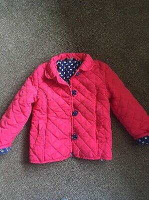 Girls George Coral Pink Quilted Padded Summer Jacket Age 4-5