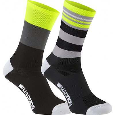 Madison Sportive Mens Adult Cycle Cycling Long Socks - Twin Pack