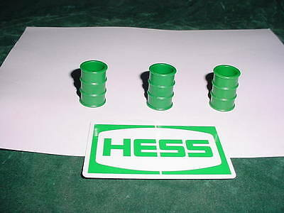 75 Christmas Xmas Rare Hess Gasoline Toys Trucks Parts 1975 3 Original Barrels