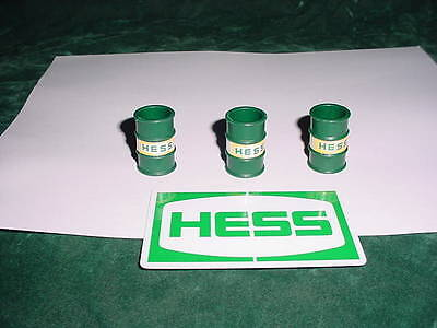 76 Christmas Xmas Rare Hess Gasoline Toys Trucks Parts 1976 3 Original Barrels