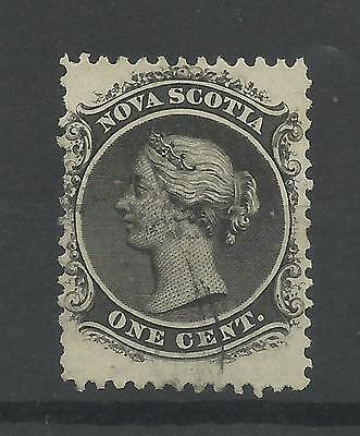 CANADA - NOVA SCOTIA 1860  QV 1c Black   fine used