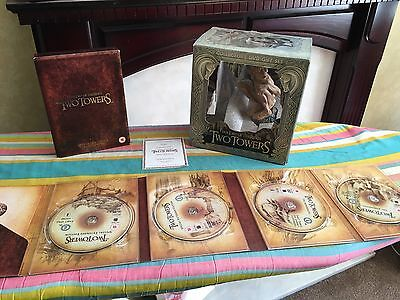 The Lord Of The Rings The Two Towers Collectors DVD Gift Set With Smeagol Figure