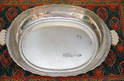 M. T. Wetzlar German Sterling Silver Art Deco Arts & Crafts Serving Bowl