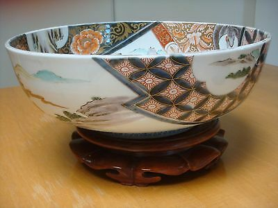 "Huge Imari Meiji Period 13 1/2"" Bowl. Finely painted in great condition."