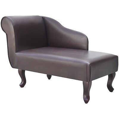 S# Chesterfield Chaiselongue Kunstleder Recamiere Couch Sofa Lougue Relax Liege