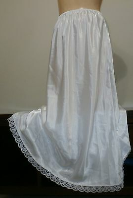 Vintage Maidenform  Lacy Satin Long Half Slip--Large--Waist 26 To 38""