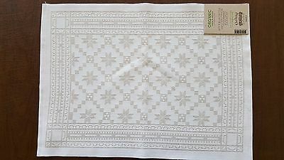 "Cotton Blend Attebladrose Small Table Square 14"" x 19"" by Ekelund"