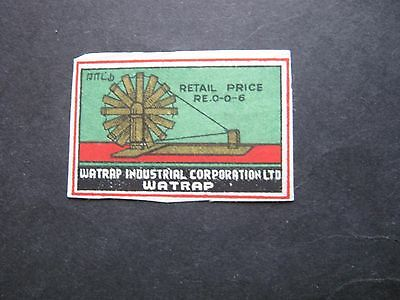 Old Indian Matchbox Label.design 12.