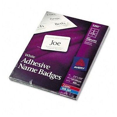 """Avery Dennison Ave-5395 Name Badge Label - 2.33"""" Width X 3.37"""" Length"""