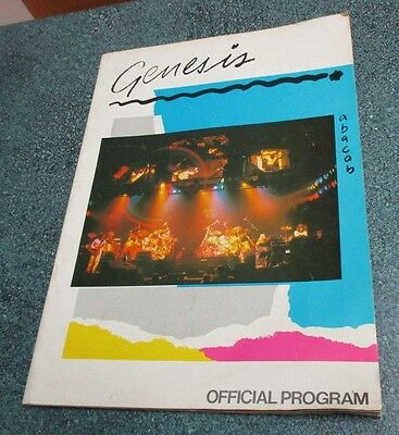 GENESIS 1981 Abacab Tour Concert Program, 26 pages of photos