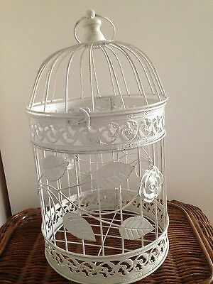 Medium Metal Shabby Chic Decorative Birdcage