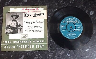 "ROY ROGERS - King of the Cowboys - 4-track 7"" vinyl single Record"
