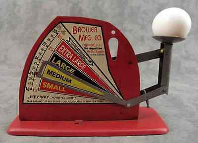 BROWER MFG. CO. JIFFY WAY POULTRY EGG SCALE ~Evaluates Fresh Eggs~COUNTRY FARM~