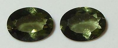 1.78ct Pair Faceted TOP QUALITY Natural Czechoslovakia Moldavite Oval Cut 8x6mm