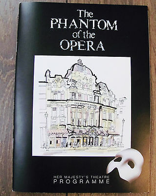 Phantom Of The Opera London Theatre Programme Signed Cast 30 Years Uk Charity