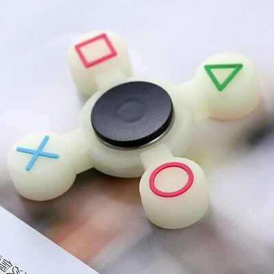 PlayStation Controller Fidget Finger Spinner Hand Focus EDC Bearing Glow Toy Hot