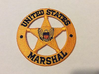 "United States Marshal Gold Star 4"" Patch  New !!"