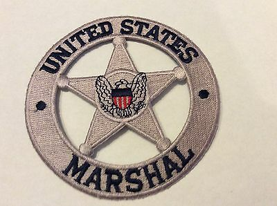 "United States Marshal Silver Star 4"" Patch  New !!"
