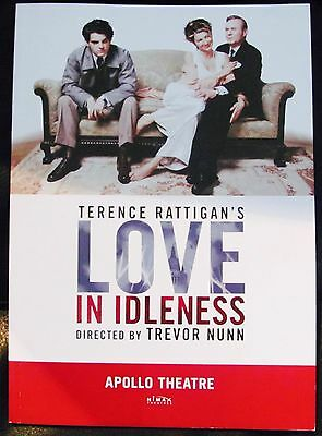 Love In Idleness London Theatre Programme Signed By Cast Uk Charity