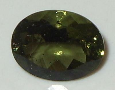 1.51ct Faceted TOP QUALITY Natural Czechoslovakia Moldavite Oval Cut 9.1x7.1mm