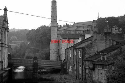 Photo  1977 Hebden Bridge Yorkshire Near The Centre Of This Pennine Town With Br