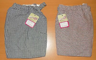 2 x VINTAGE 1970's UNWORN BOYS ASSORTED DOGSTOOTH PATTERNED DRESS SHORTS AGE 5-6