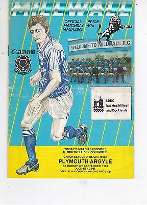 Millwall Homes Programmes  1983/84