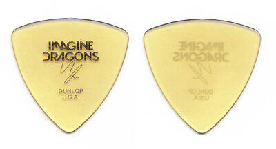 "Imagine Dragons Wayne ""Wing"" Sermon Signature Yellow Guitar Pick 2013 Tour"