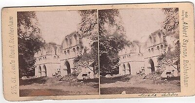 Stereoview Nice Early Image Of  Roche Abbey Maltby South Yorkshire