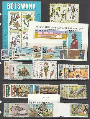 Botswana - (most NH sets) only 1 set is hinged (Catalog Value $51.40)  [2R0322]
