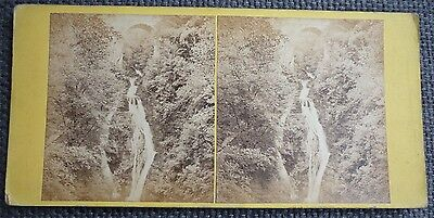 Stereoview Nice Old Image Scotland Falls Of Corrymulzie , Braemar Card No 41
