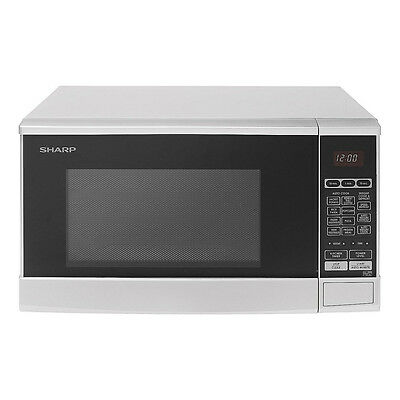 Sharp R270WM 20L Capacity Microwave Oven with 10 Power Levels in White