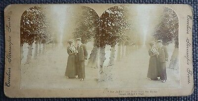"""Stereoview Early Image Sailor And Lady """" Our Jack's Come Home From Sea Today """""""