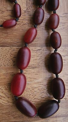 HIGH QUALITY ANTIQUE CHINESE CARVED BUFFALO HORN NECKLACE 64g