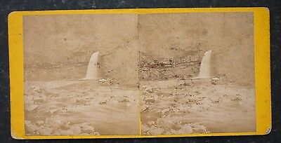 Stereoview Nice Early Image Lower Falls Devil's Bridge Aberystwyth.South Wales