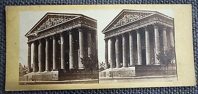Stereoview Early Image Magdalenae Church Paris Magdalen