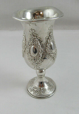 Kiddush Wine Cup with lip - Sterling Silver 925 78g Height 4 3/4
